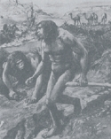 Early 20th century artist's conception of Nebraska Man