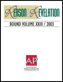 2003 Reason and Revelation Bound Volume